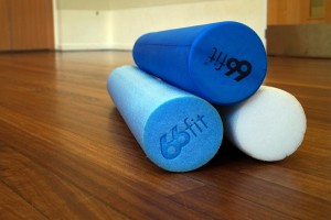 Foam rollers for Pilates class in Woolston, Southampton
